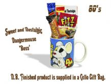 Dangermouse 'Your the Boss' Mug jammed with/without a teatime selection of 80's themed sweets.